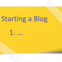 Sarting a blog - posti it