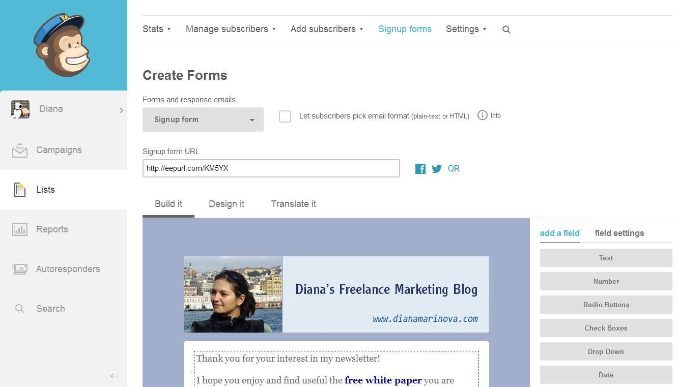 How to Use Mailchimp to auto-send a free ebook to new newsletter subscribers
