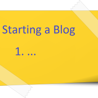 Sarting a blog - posti it