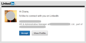 Default LinkedIn connection message