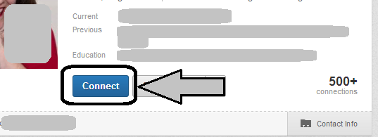 connect button on LinkedIn profile