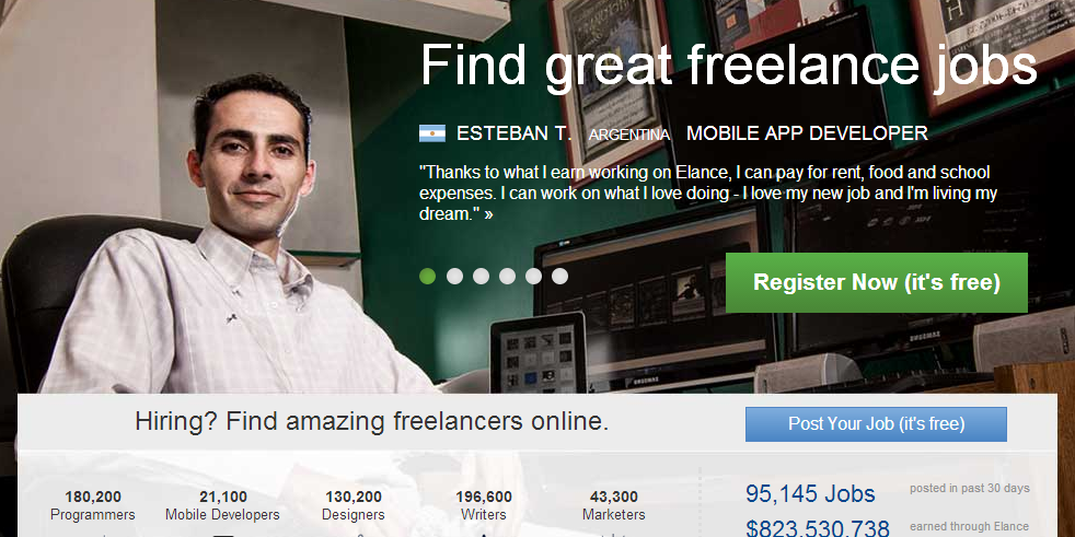 Elance - one of the best freelance websites