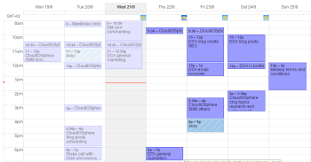 Google Calendar week view