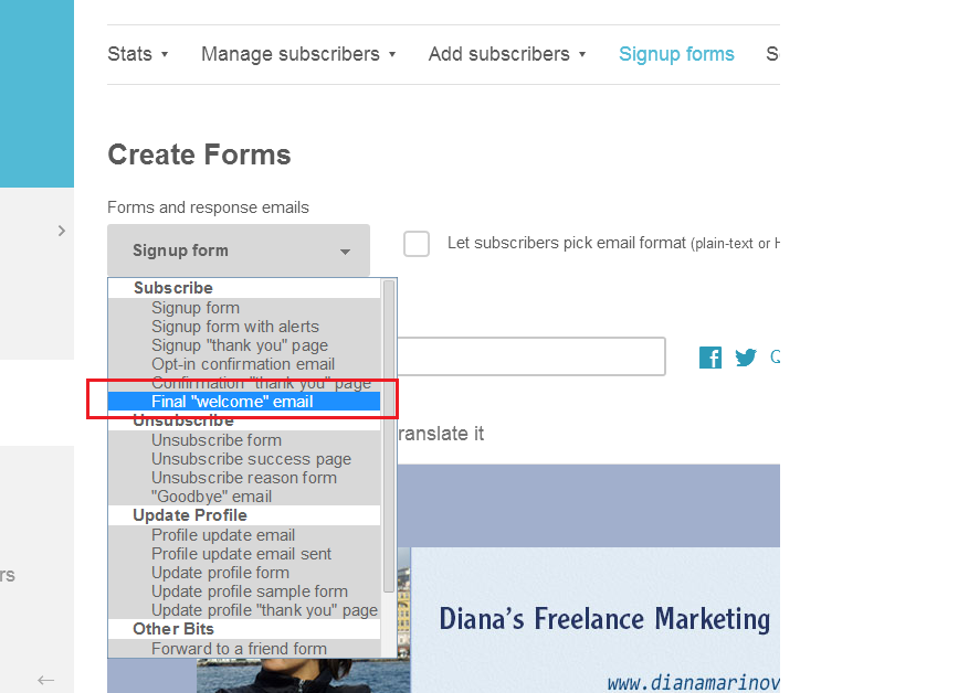 Step 6 - Customize the Final welcome email - Mailchimp how to