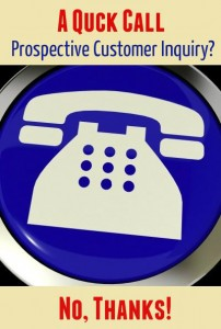 Quick Call Prospective Customer Inquiry