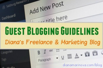 Guest Blogging on Diana Freelance and Marketing Blog