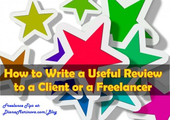 How to Write a Review to a Client or a Freelancer that Helps