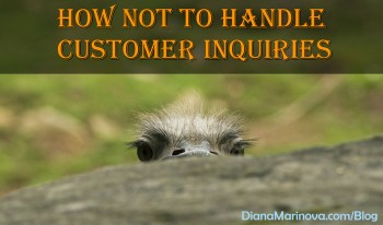 How Not to Handle Customer Inquiries