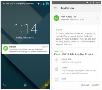 Upwork mobile apps