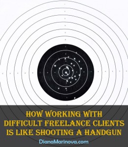 Working with Difficult Freelance Clients Is like Shooting a Handgun