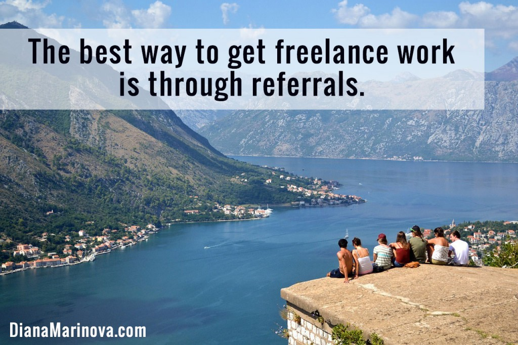 Get Freelance Work by Being Referable