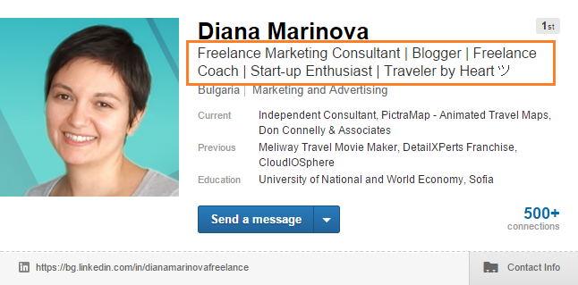 LinkedIn Profile - By-line