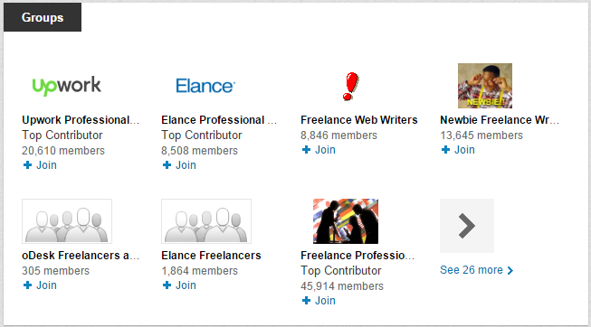 LinkedIn Profile - Groups Section
