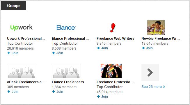 LinkedIn Profile - Groups Section