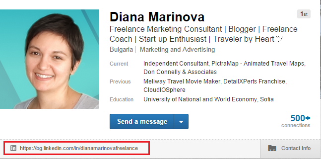 LinkedIn Profile - Vanity URL