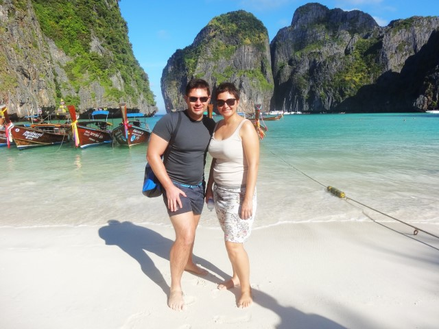 on the famous Maya Bay in Phuket