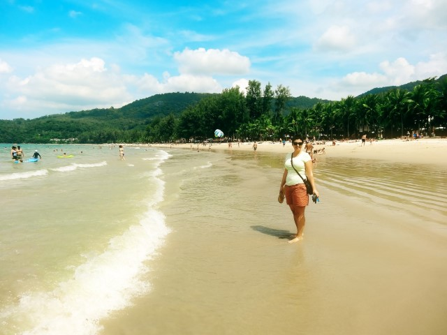 Enjoying the weather in Kamala Beach Phuket